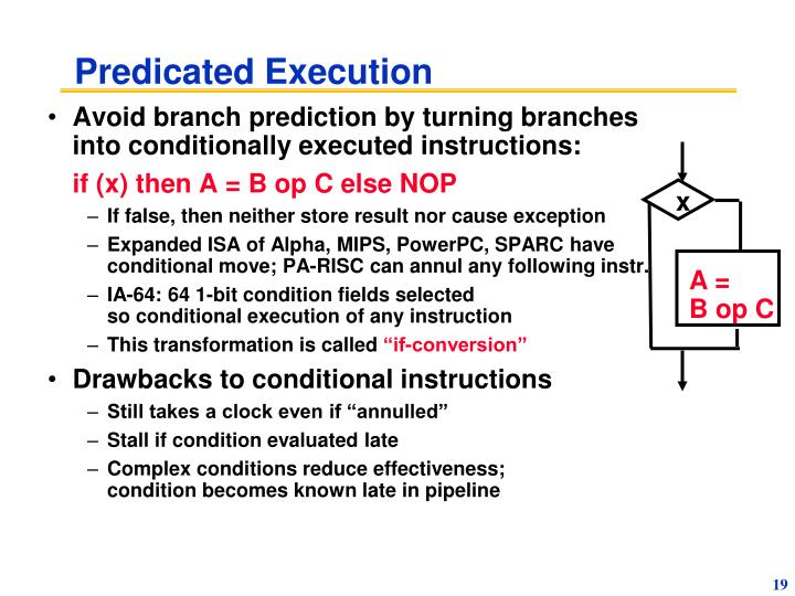 Predicated Execution