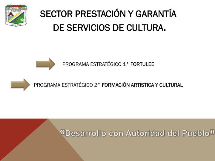 SECTOR PRESTACIÓN Y GARANTÍA