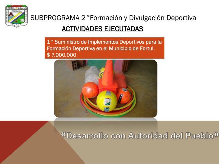 SUBPROGRAMA 2°Formación