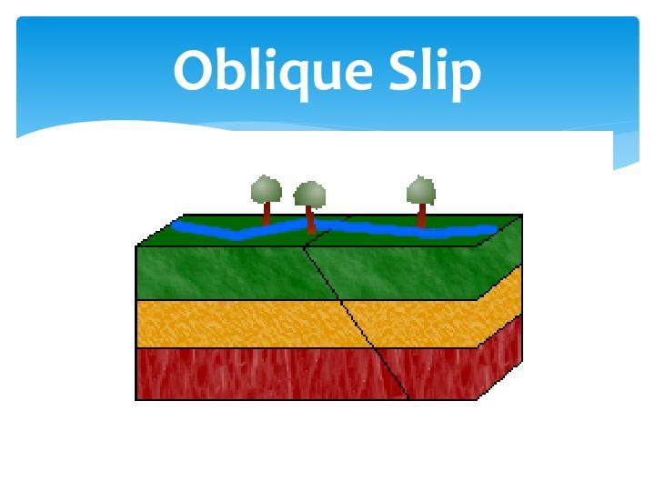 Oblique Slip
