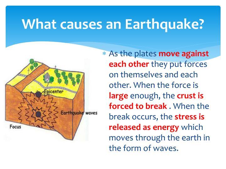 What causes an Earthquake?