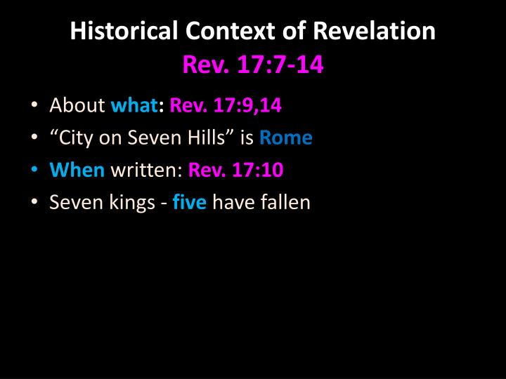 Historical Context of Revelation
