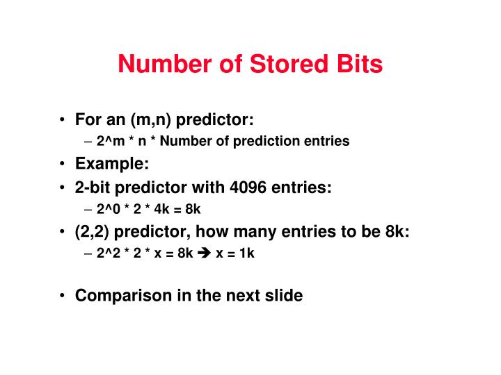 Number of Stored Bits