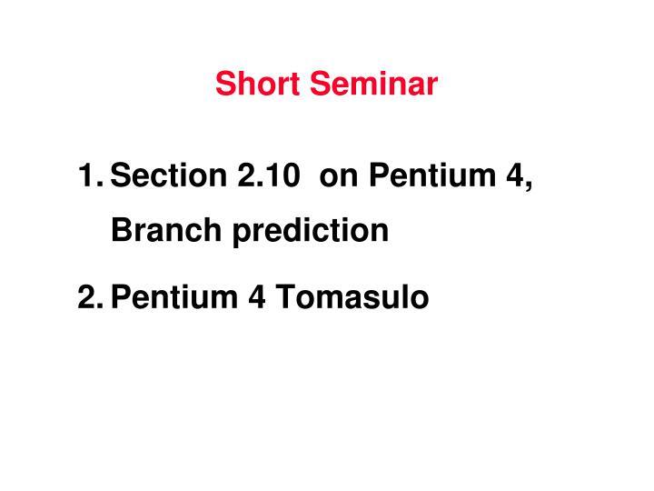 Short Seminar