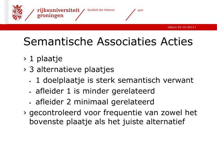Semantische Associaties Acties