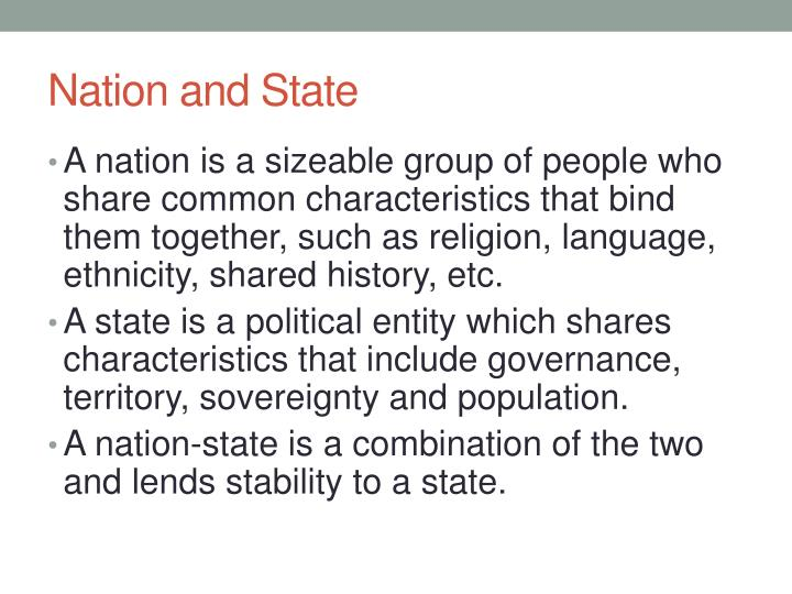 Nation and State