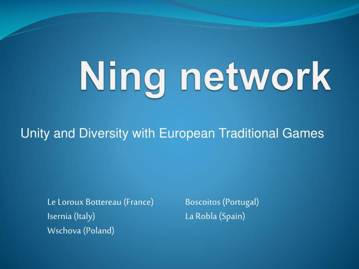 Ning network