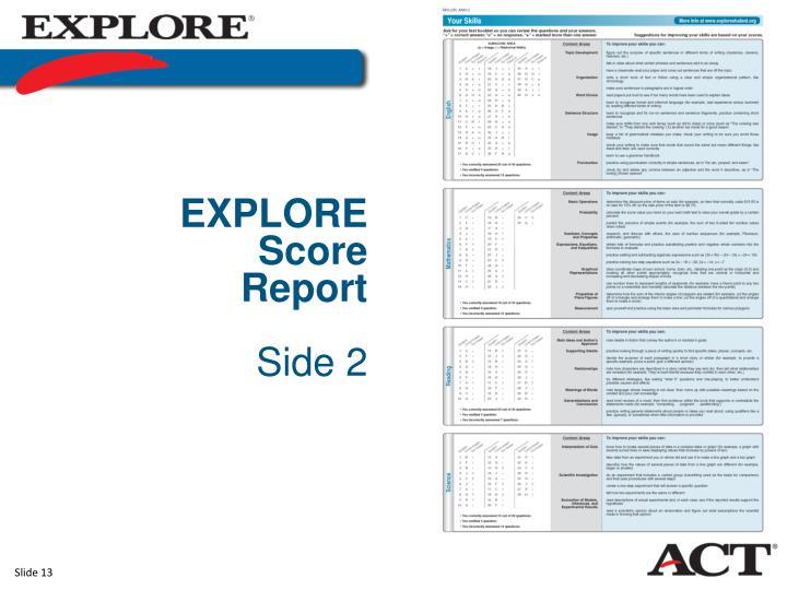 EXPLORE Score