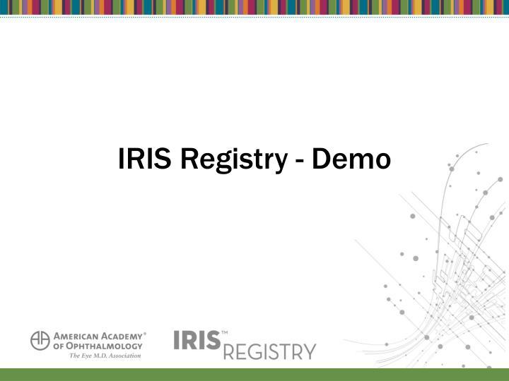 IRIS Registry - Demo