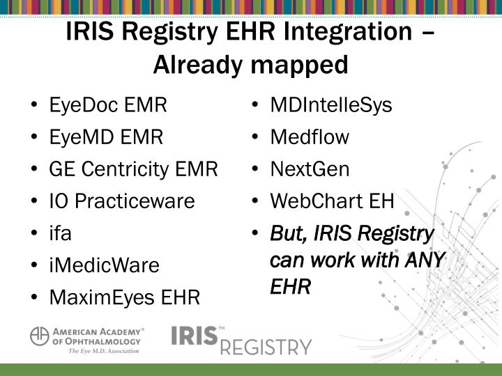 IRIS Registry EHR Integration –