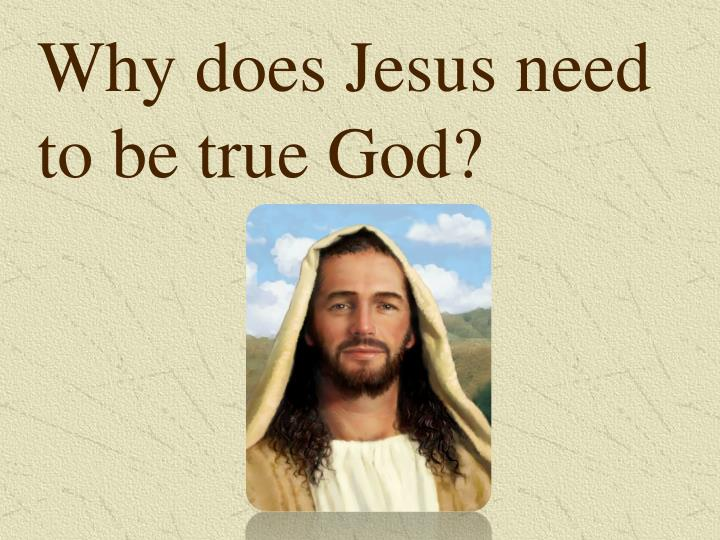 Why does Jesus need to be true God?