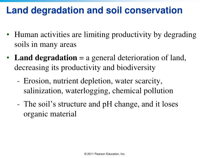 Land degradation and soil conservation