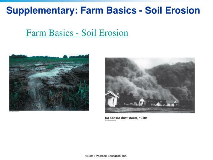 Supplementary: Farm Basics - Soil Erosion