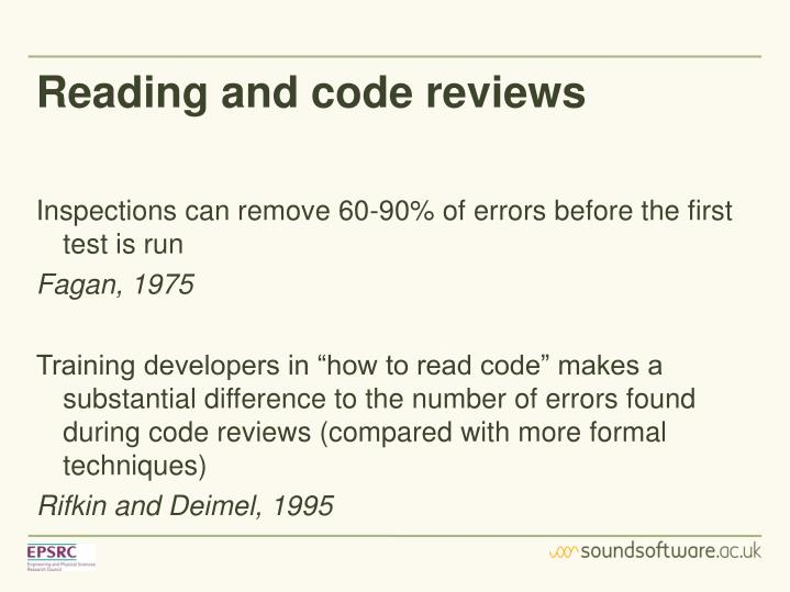 Reading and code reviews