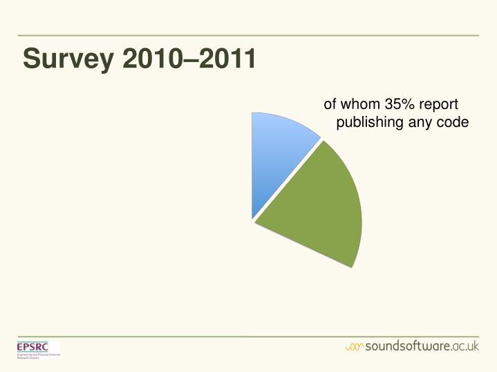 Survey 2010–2011