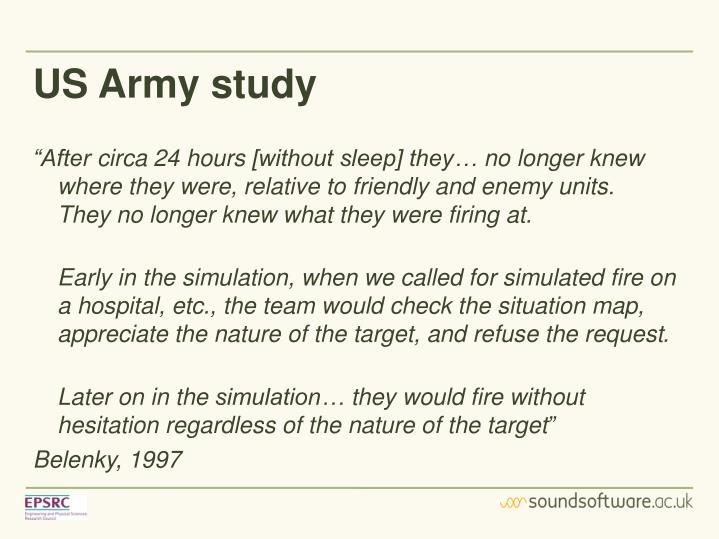 US Army study