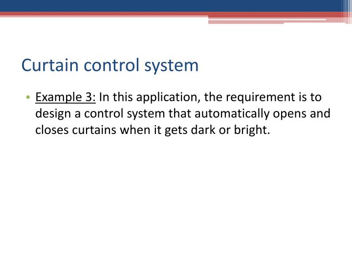 Curtain control system