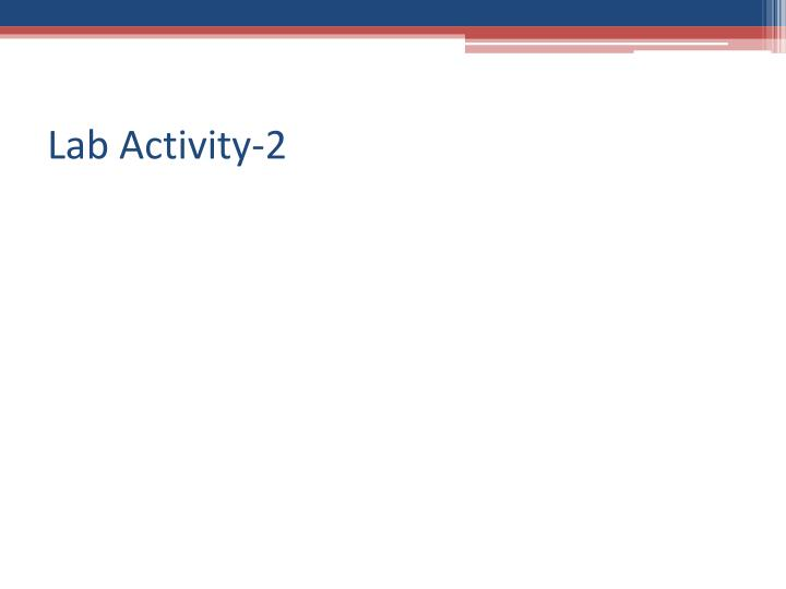 Lab Activity-2