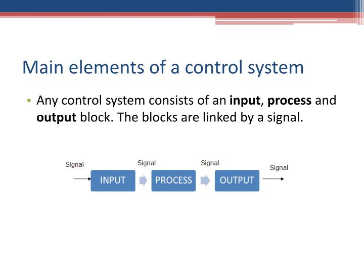 Main elements of a control system