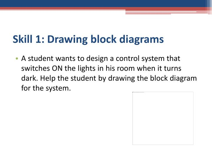 Skill 1: Drawing block diagrams
