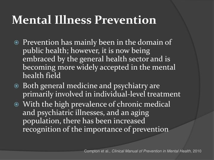 Mental illness prevention