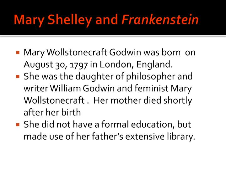 Mary shelley and frankenstein1