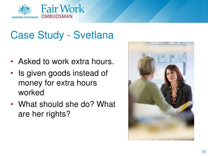 Case Study - Svetlana