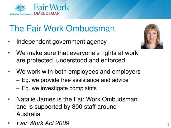 The Fair Work Ombudsman