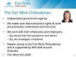 the fair work ombudsman