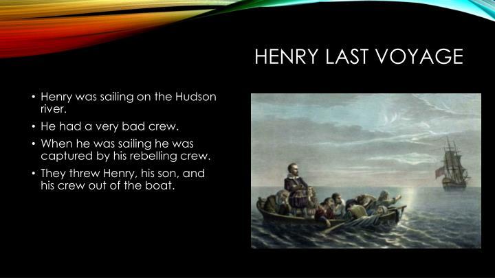 Henry last voyage
