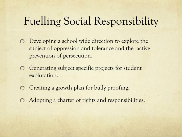Fuelling Social Responsibility