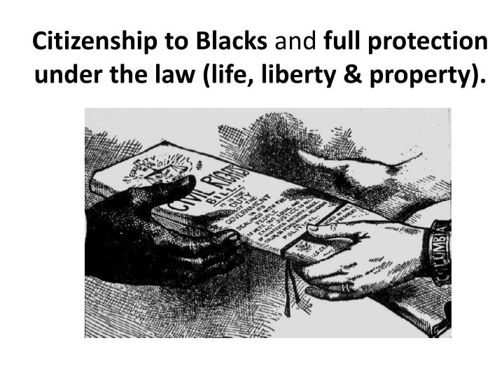 Citizenship to Blacks