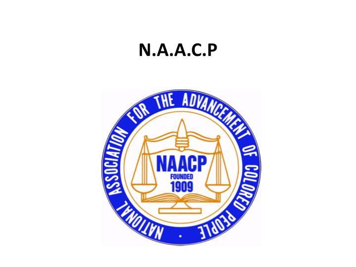 N.A.A.C.P