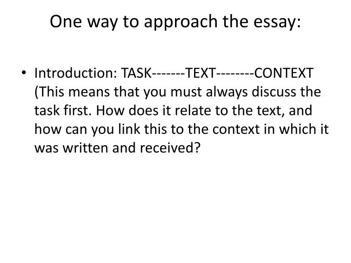 approach to persuasion essay