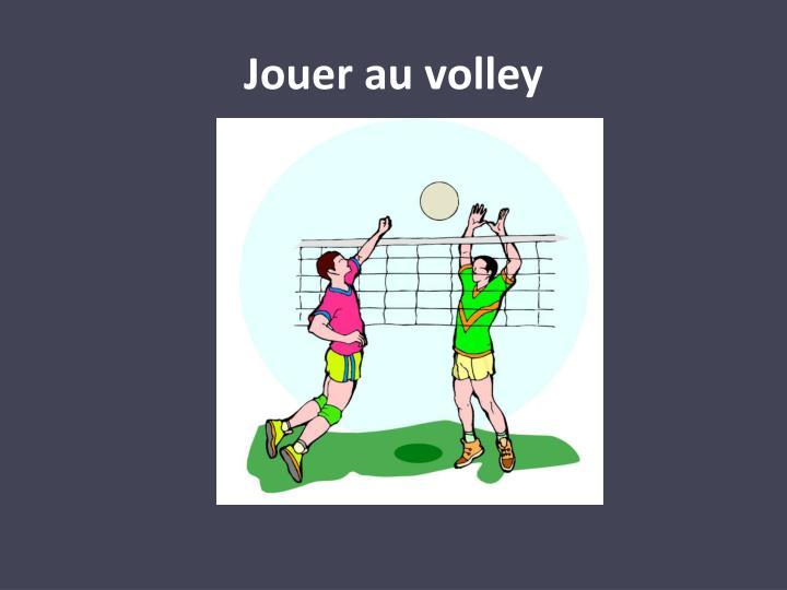 Jouer au volley