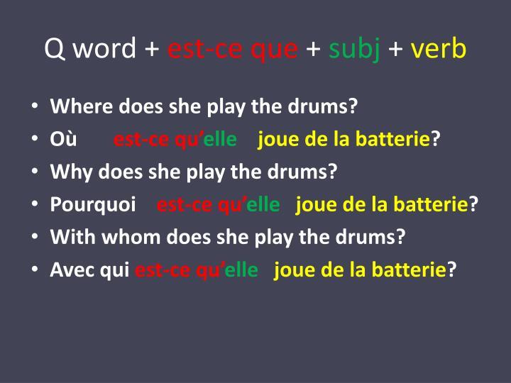 Q word +