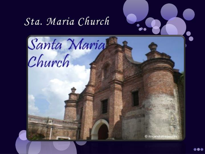 Sta. Maria Church