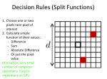 decision rules split functions