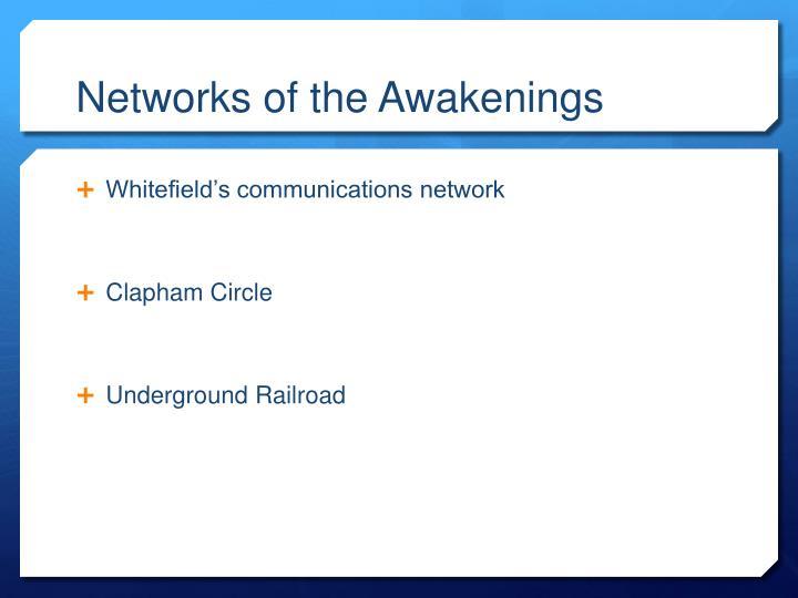 Networks of the Awakenings