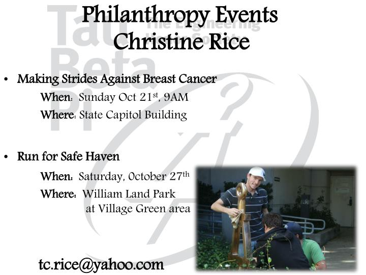 Philanthropy Events