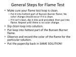 general steps for flame test