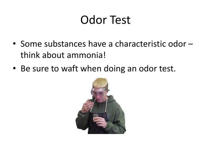 Odor Test