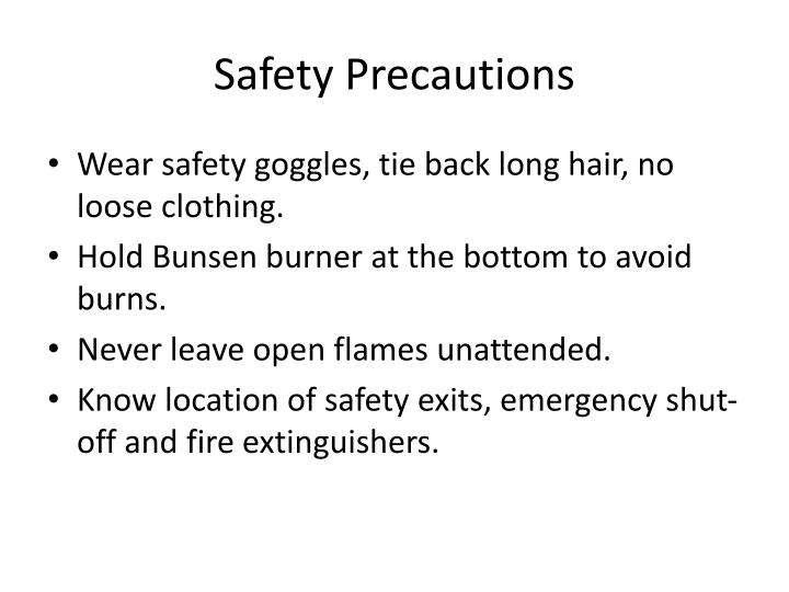 Safety Precautions