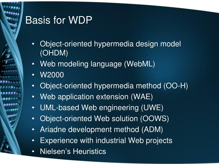 Basis for WDP