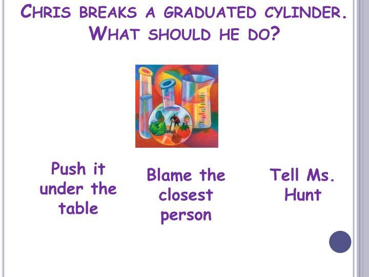 Chris breaks