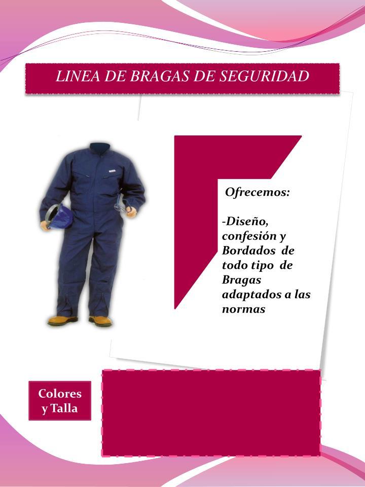 LINEA DE BRAGAS DE SEGURIDAD