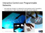 interactive control over programmable networks1