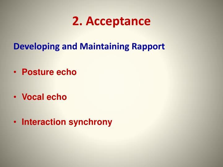 2. Acceptance