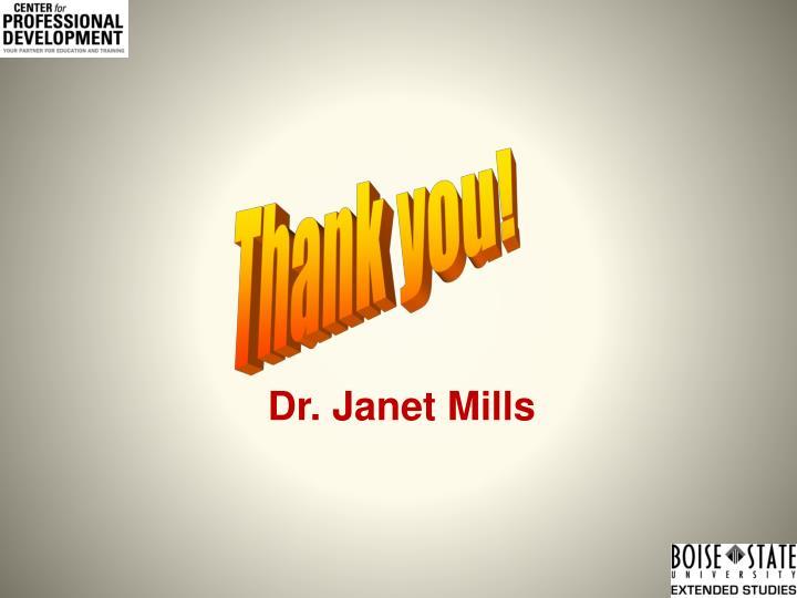 Dr. Janet Mills