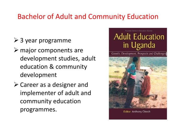 Bachelor of Adult and Community Education